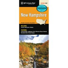 New Hampshire State Laminated Map