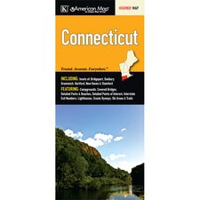 Connecticut State Map Fold Map (Set of 2)