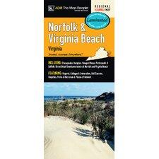 Norfolk/Virginia Beach Laminated Map