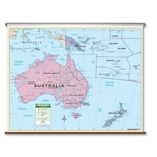 Primary Wall Map - Australia