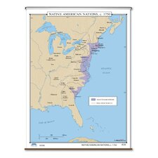 U.S. History Wall Maps - Native American Nations