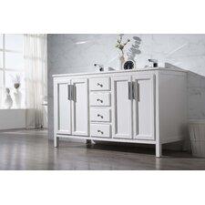 "Emily 59"" Double Sink Bathroom Vanity Set"