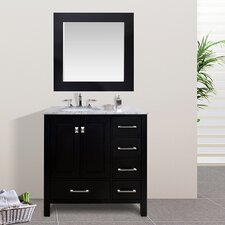"Malibu 36"" Single Bathroom Vanity Set with Mirror"