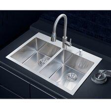 """33"""" x 22"""" Overmount Kitchen Sink"""