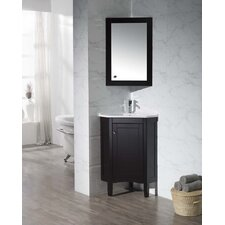 "Monte 25"" Single Corner Bathroom Vanity with Mirror"