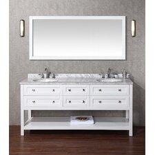 "Marla 72"" Single Sink Bathroom Vanity Set with Mirror"