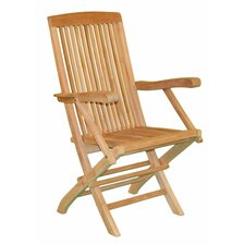 Fan Folding Dining Arm Chair