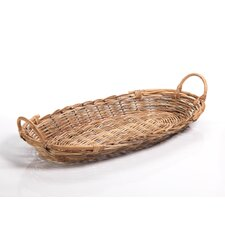 Arurog and Rattan Oval Tray