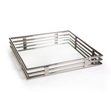 Pipe Design Glass Square Tray