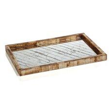 Tamban Rectangular Tray with Glass Insert