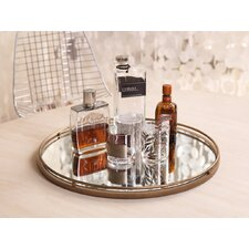 PomPom Round Mirrored Tray