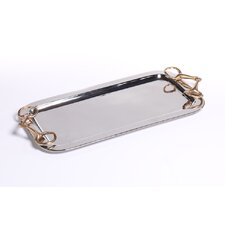 Barclay Butera Equestrian Rectangular Tray with Horse Bit Handle