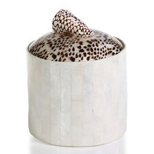 Capiz Brick Ice Bucket with Shell Lid