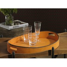 Barclay Butera Equestrian Oval Serving Tray