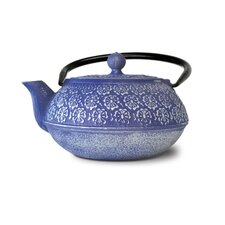 Floral Cast Iron Teapot
