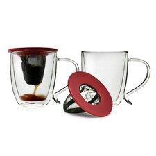 Double Wall Coffee Mugs with 2 Coffee Brew Buddies