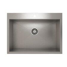 "ProInox 27"" x 20"" Topmount Single Bowl Kitchen Sink"