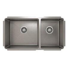 "ProInox 33"" x 18"" Undermount Double Bowl Kitchen Sink"