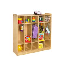 Cubbie 1 Tier 5-Section Bay Coat Locker