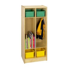 Cubbie Two Bay Coat Locker in Natural