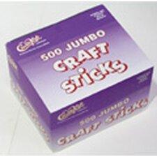 Jumbo Craft Sticks 500 Pieces Natrl