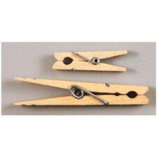 Large Spring Clothespins Natural, 24 per Pack (Set of 3)