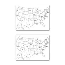USA Map Wall Mounted Whiteboard, 2' x 2'