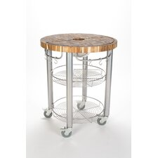 Pro Stadium Kitchen Cart with Butcher Block Top