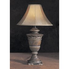 """Antique 30.5"""" H Table Lamp with Bell Shade"""