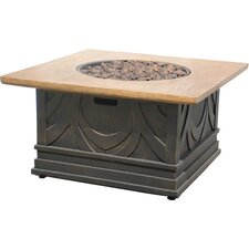 Avila Metal / Marble Gas Fire Table