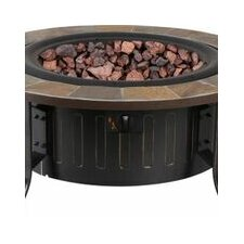 Bolen Bistro Steel Table with Propane Firepit