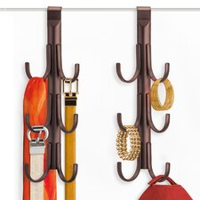 Over Door 6 Hook (Set of 2)
