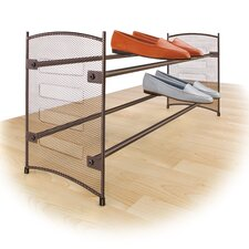Expandable & Stackable 2 Tier Shoe Rack