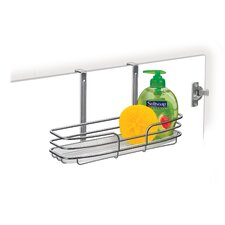 Cabinet Single Shelf Over Door Organizer with Molded Tray