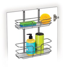 Cabinet Door Organizer- Double Shelf w/Molded Tray