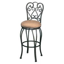 "Magnolia Rust 30""  Swivel Barstool w/ Moccasin Suede Fabric"