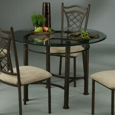 Florence Rust Glass Top Dining Table