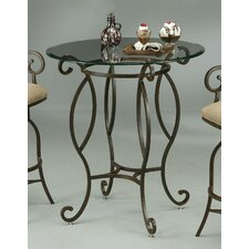 "Capri 36"" Glass Pub Table in Autumn Rust"