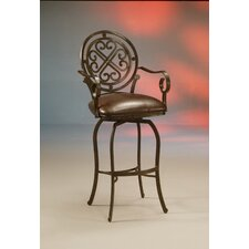 "Island Falls 27.25"" Swivel Bar Stool with Cushion"