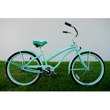 "Ladies 26"" Single Speed Aluminum Beach Cruiser in Mint Green"