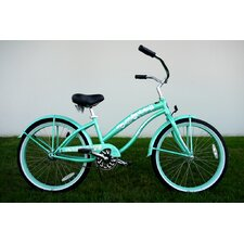 "Ladies 24"" Single Speed Beach Cruiser in Mint Green"