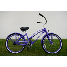 "Ladies 24"" Single Speed Beach Cruiser in Purple"
