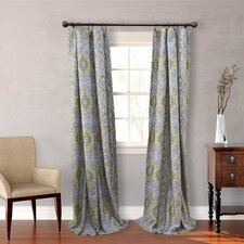 Milan Gray Cotton Lined Curtain Panel (Set of 2)