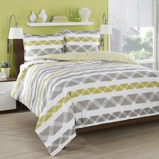 Orgami Stripe Duvet Cover Set