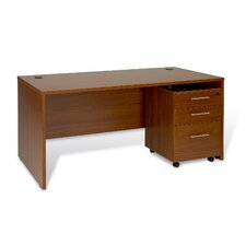 Computer Desk with 3 Drawer Mobile Pedestal