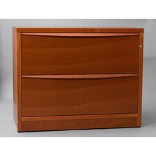 2-Drawer Lateral File Cabinet with Two Drawers in Wood