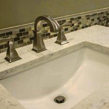 Vitreous China Rectangular Undercounter Bathroom Sink