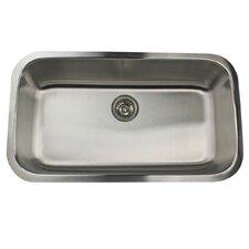 "32.38"" x 18.88"" Single Bowl Stainless Steel Kitchen Sink"