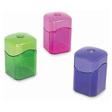 "Pencil Sharpener,w/ Receptacle,2-1/8"",Assorted (Set of 2)"