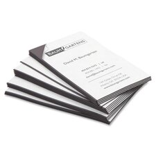 "Magnetic Business Card, Adhesive Back, 3-1/2""x2"", 25 per Pack, Black"